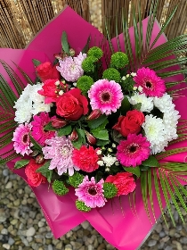 Perfect Pinks Bouquet. Flowers Delivered In Halifax, West Yorkshire. Valentines, Mothers day